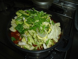 鶏肉のトマト鍋