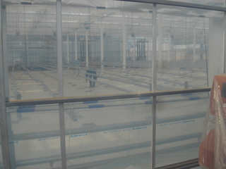 植物工場の内部