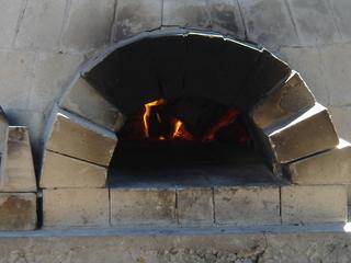 石釜の炎の図